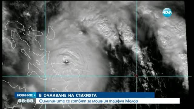 Филипините се готвят за мощния тайфун Мелор