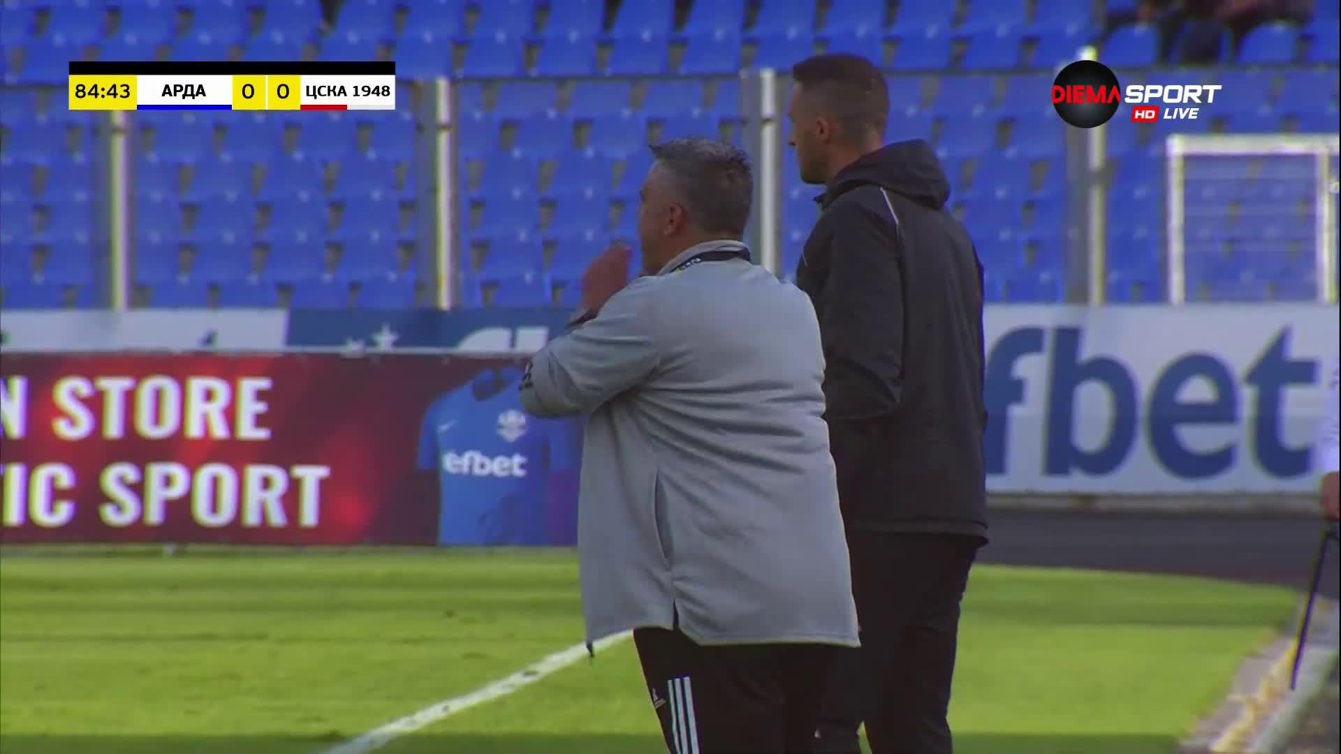 Александров остави ЦСКА 1948 с 10 души на терена срещу Арда