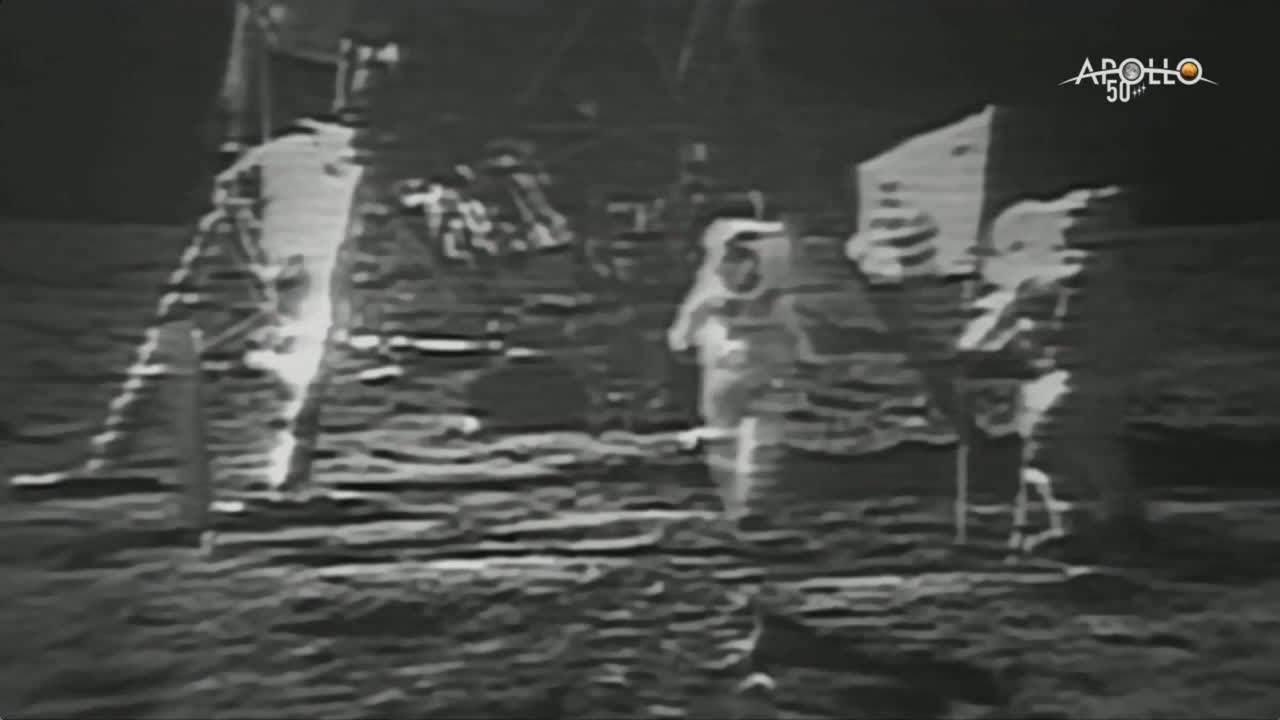 Watch mankind's first steps on the Moon from 50 years ago
