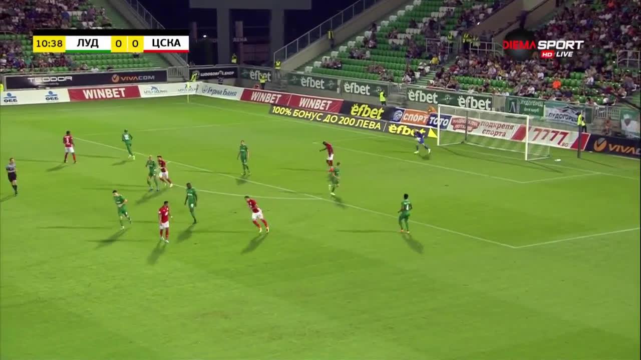 Лудогорец - ЦСКА 0:0 /първо полувреме/