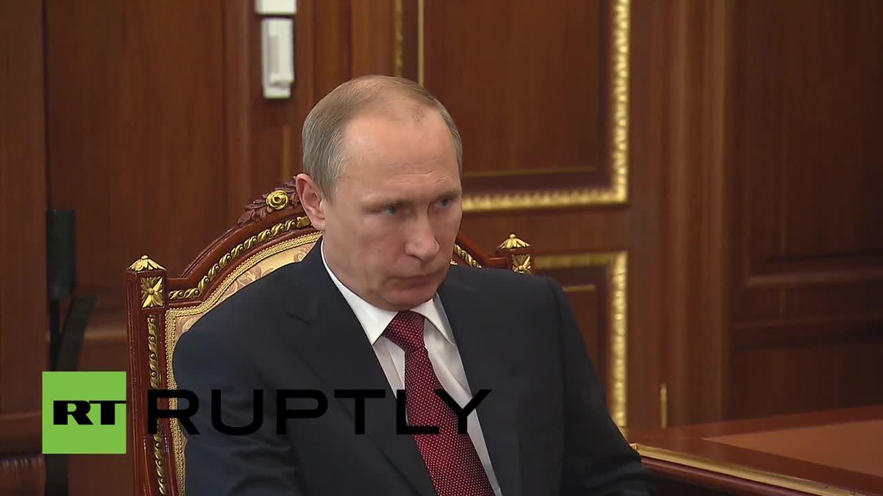 Russia: Sberbank boss tells Putin of positive outlook for the lender