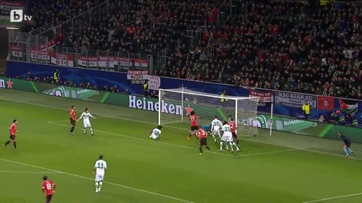 Волфсбург 3:2 Манчестър Юнайтед ( шампионска лига ) ( 08.12.2015 )
