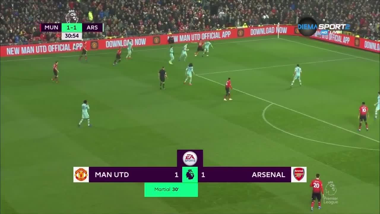 Манчестър Юнайтед - Арсенал 1:1 /първо полувреме/