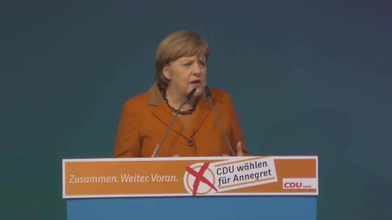 Germany: Merkel hits back at Greens' diesel policy during campaign rally