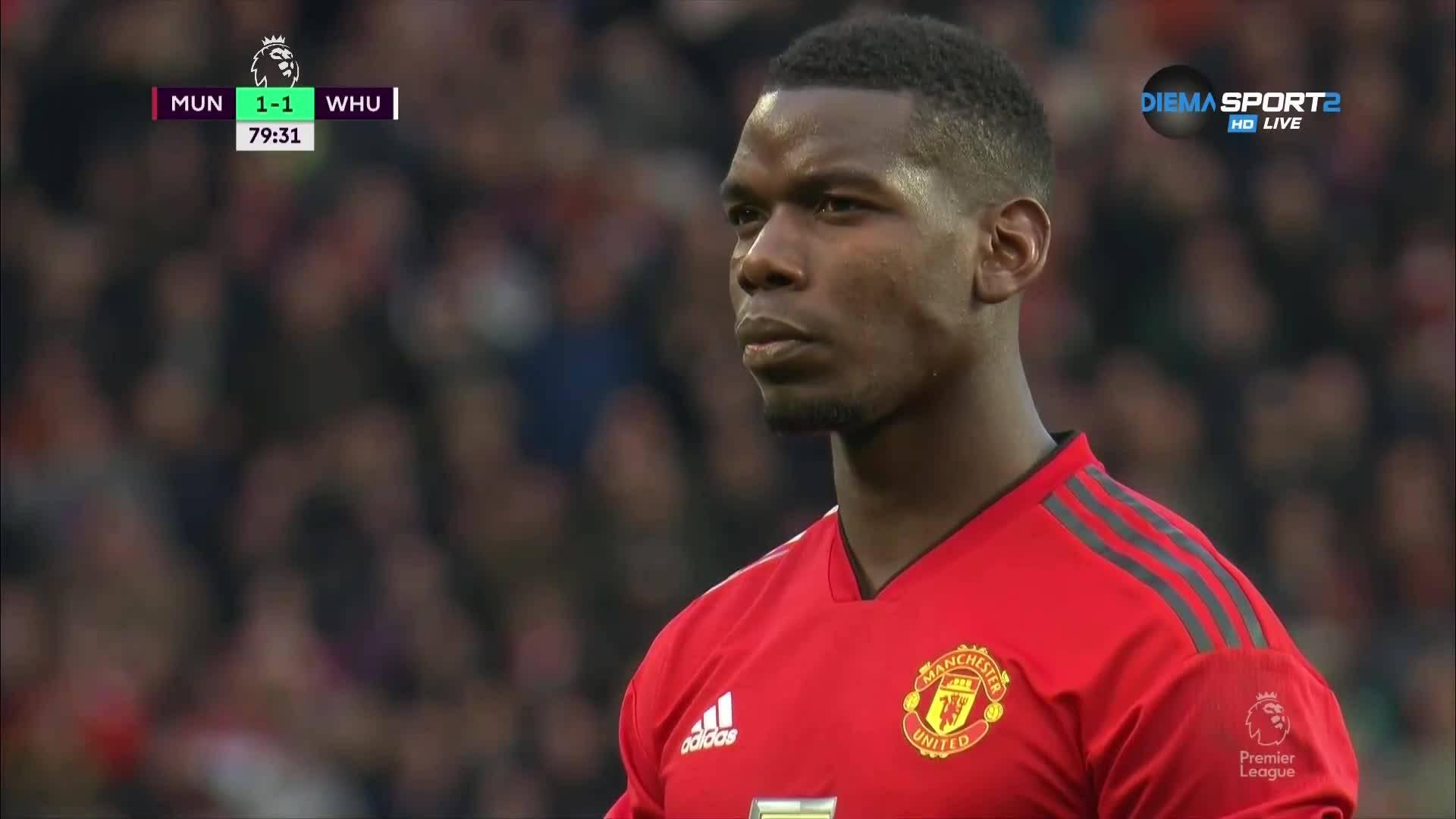 Нова дузпа за Юнайтед, Погба отново точен