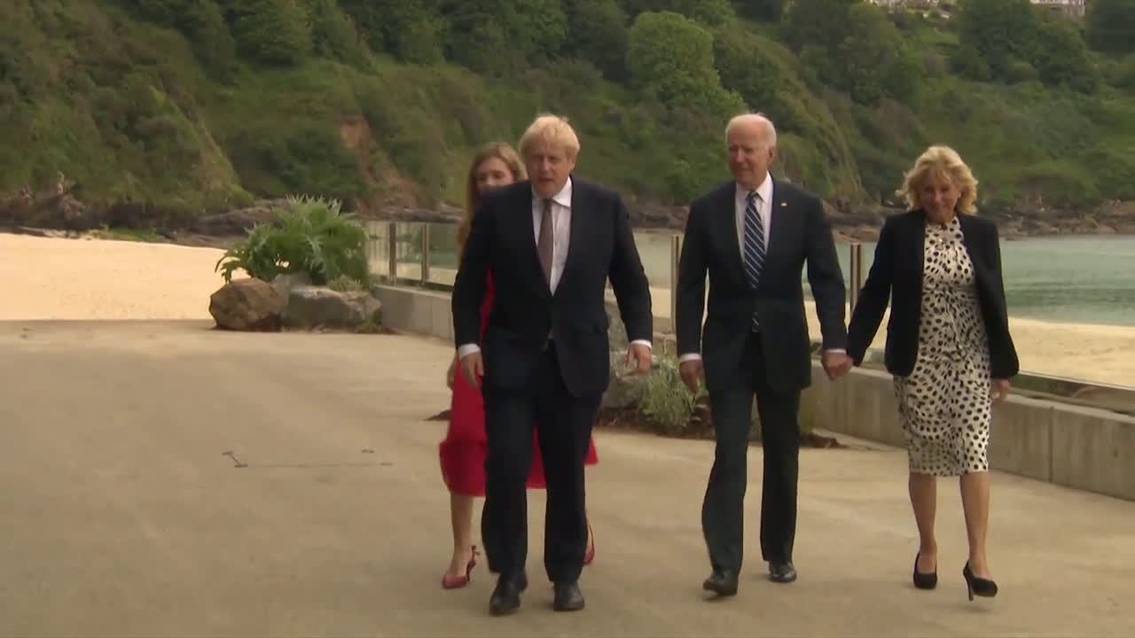 UK: Biden meets with UK PM Johnson in Cornwall to sign new Atlantic Charter