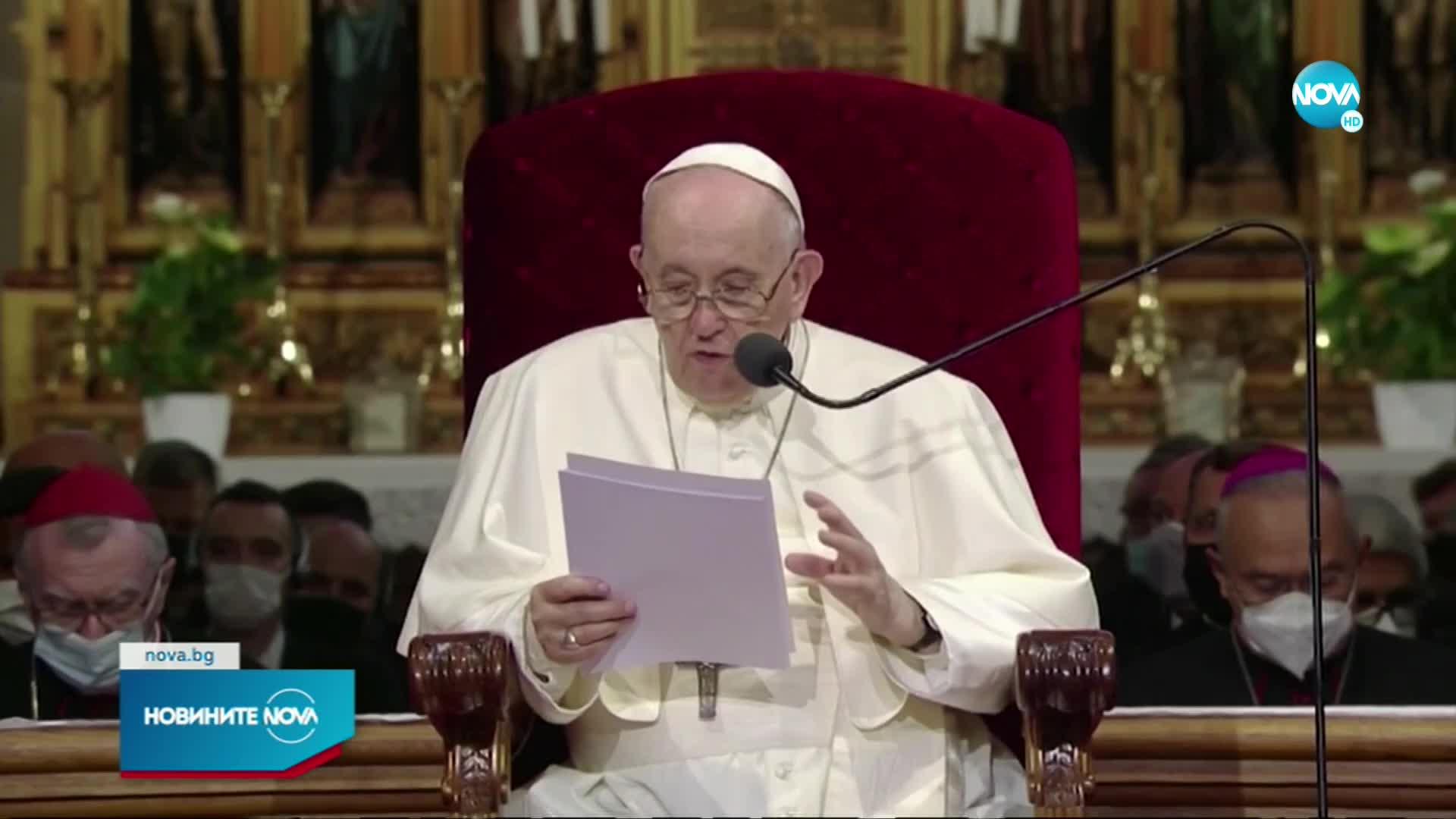 Папата на първа задгранична визита след операцията