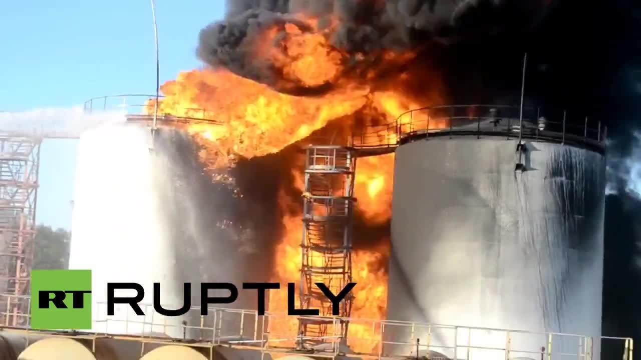 Ukraine: Several firefighters killed after huge explosions at oil depot near Kiev