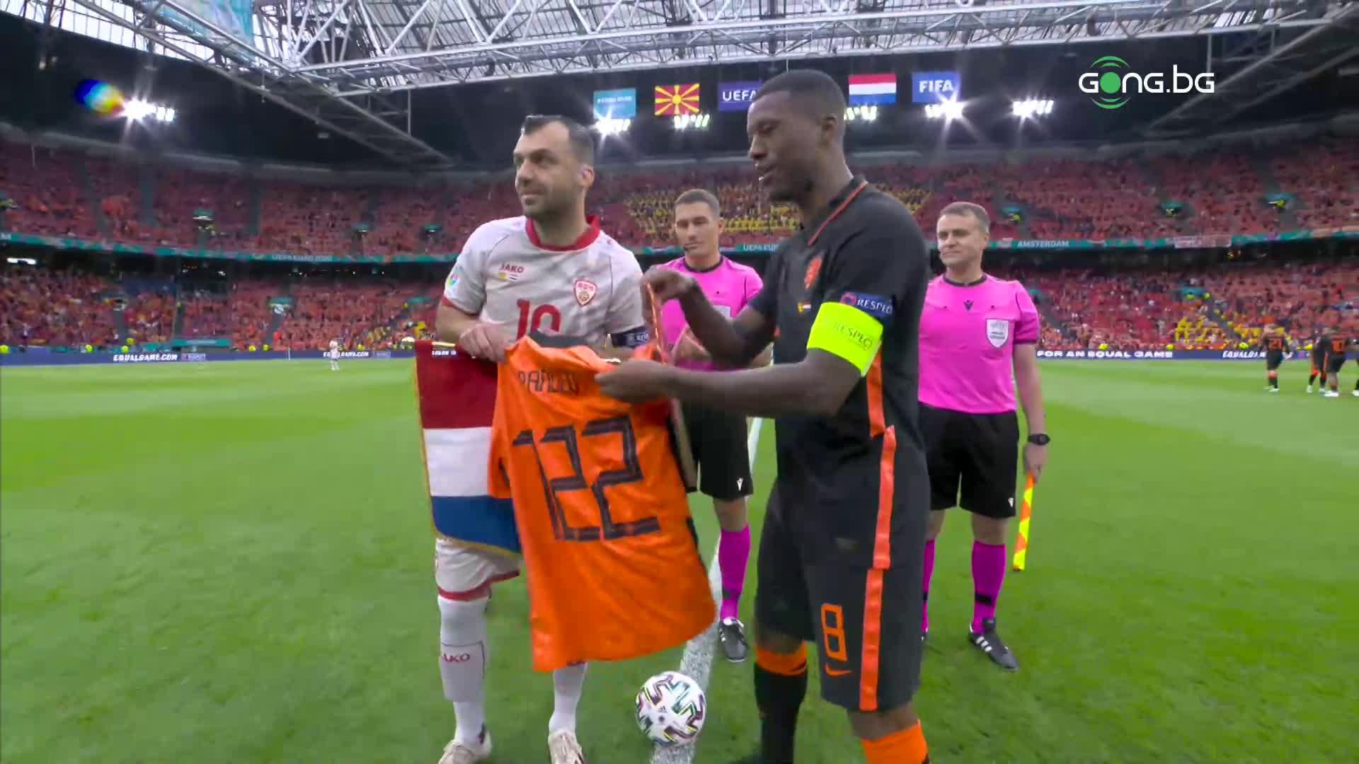 Нидерландия с уникален жест към капитана на Северна Македония Горан Пандев