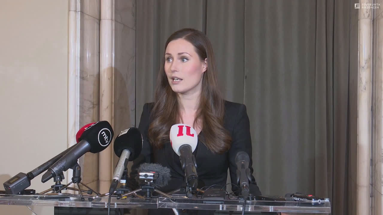Finland: Sanna Marin delivers first speech after being approved by parliament as PM
