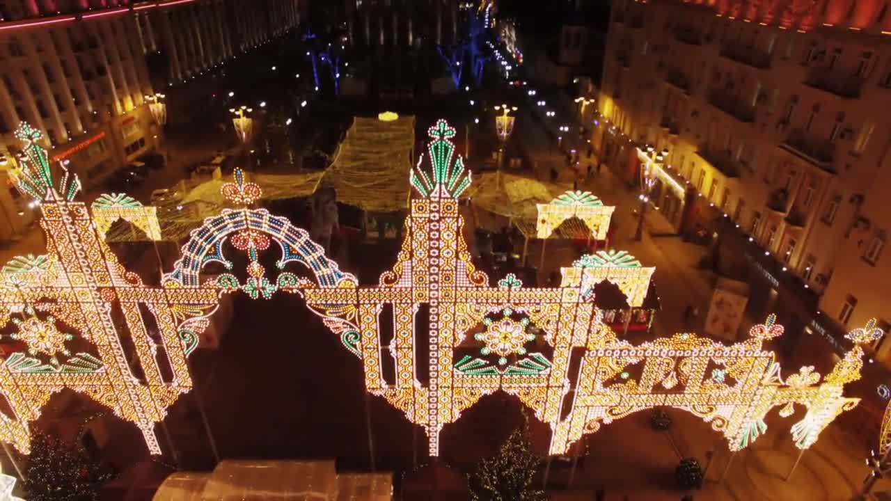 Russia: Drone footage captures Moscow\'s dazzling night-time Christmas lights