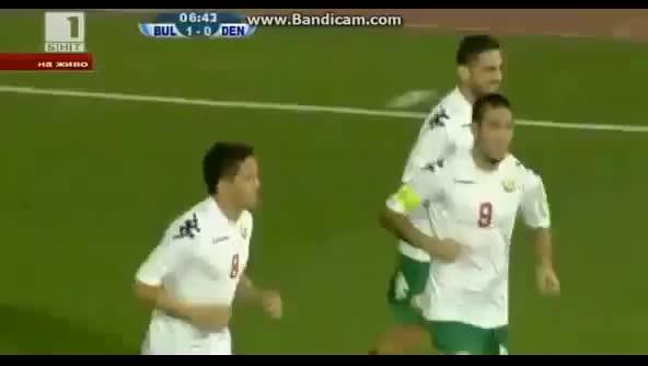 Гола на Димитър Рангелов срещу Дания - 12.10.2012г.