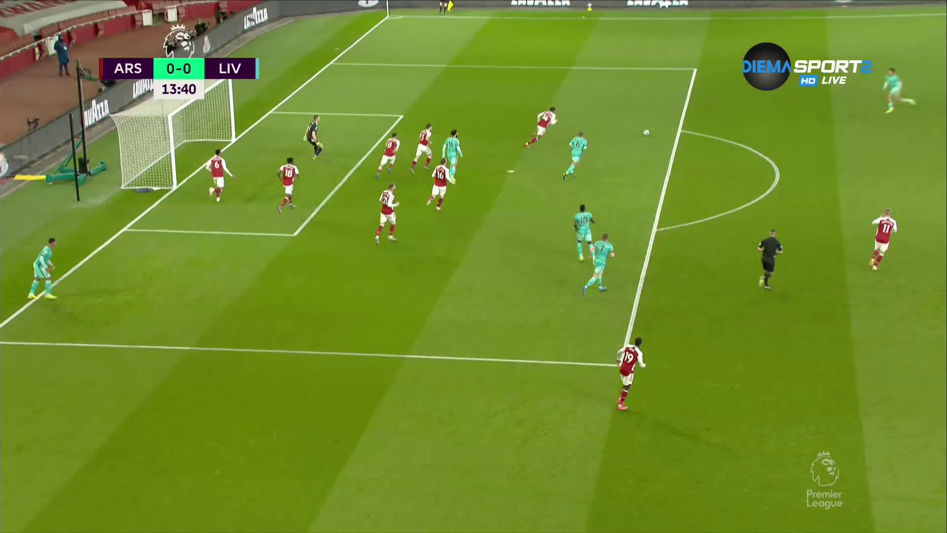 Арсенал - Ливърпул 0:0 /първо полувреме/