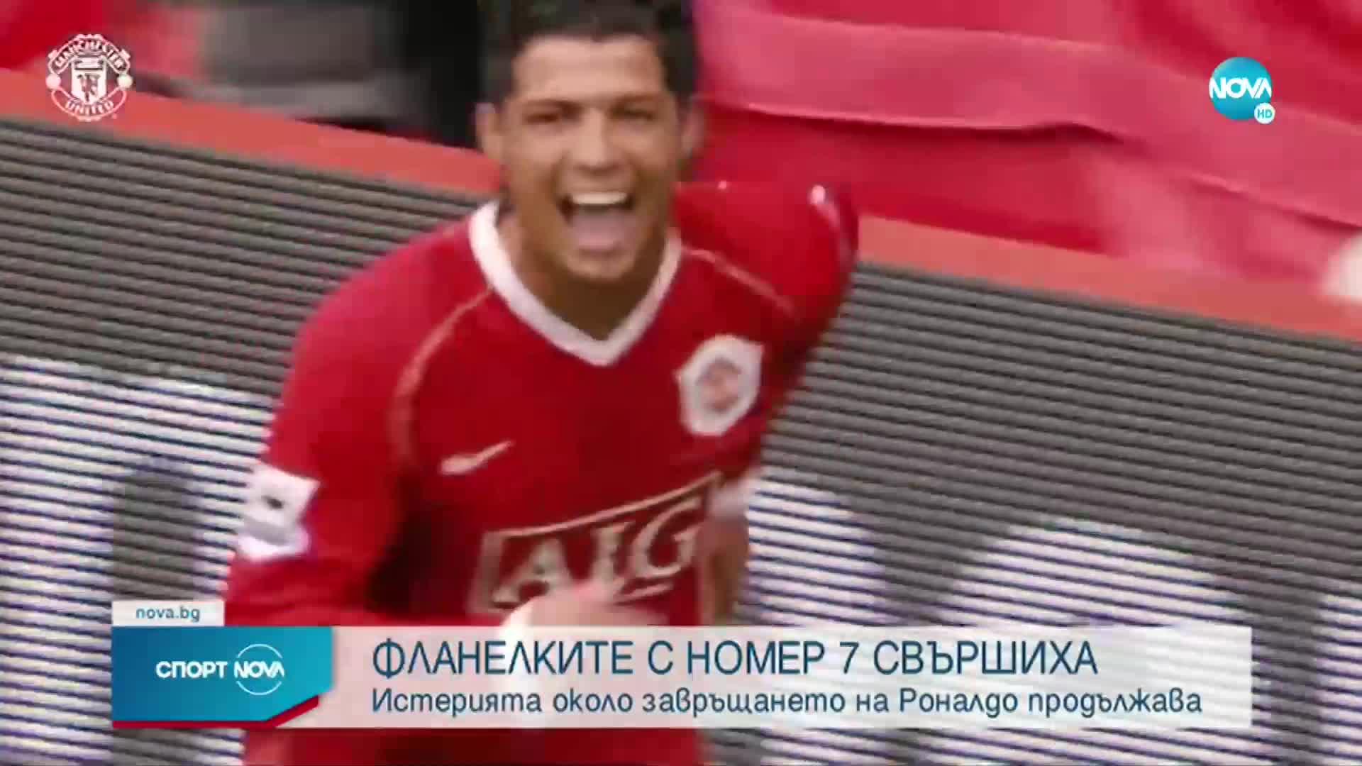 Феновете на Ман Юнайтед изкупиха фланелките на Роналдо