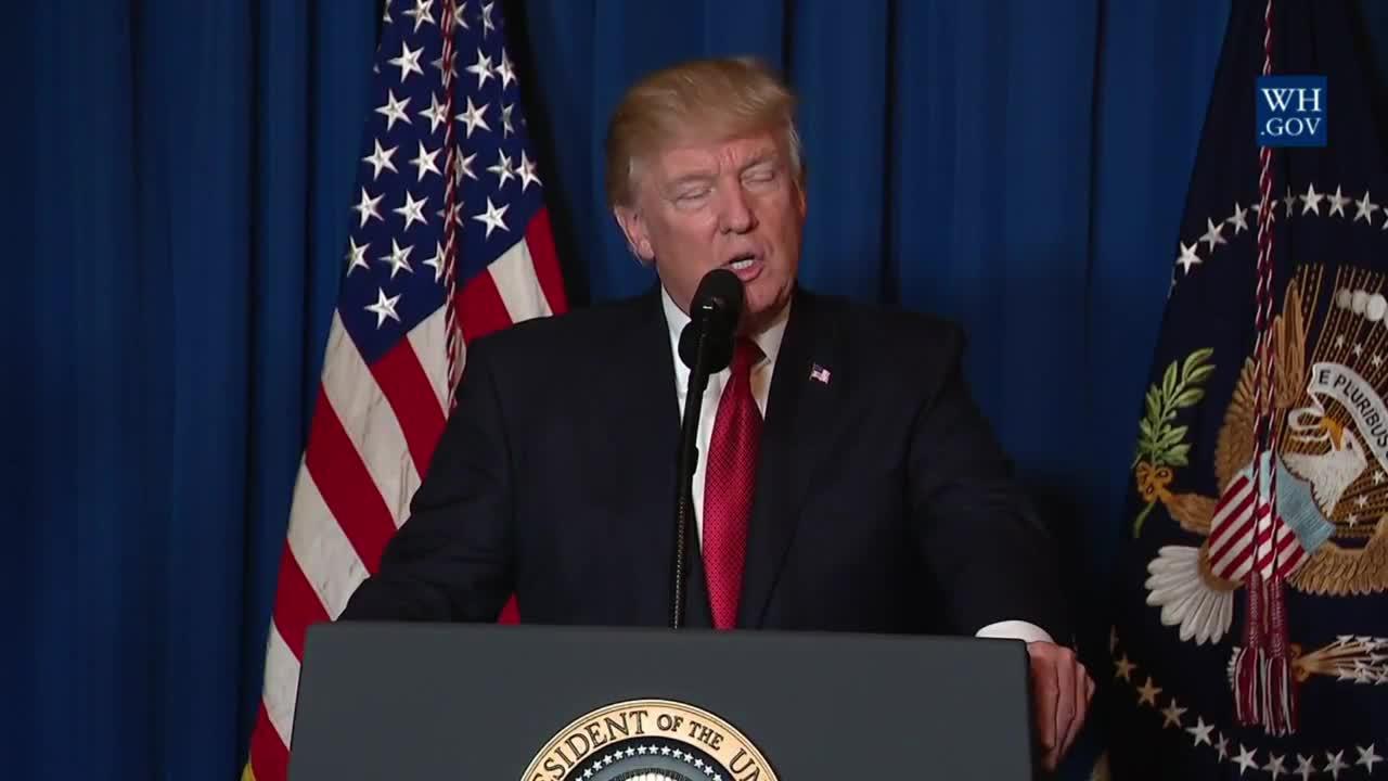 Доналд Тръмп с обръщение към американския народ по повод въздушните удари срещу Сирия