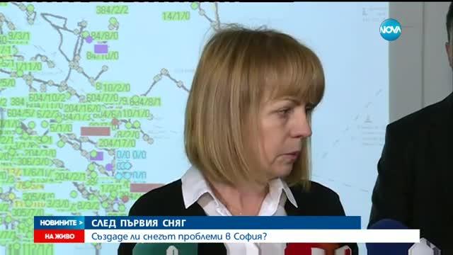 Фандъкова: Градският транспорт в София се движи нормално