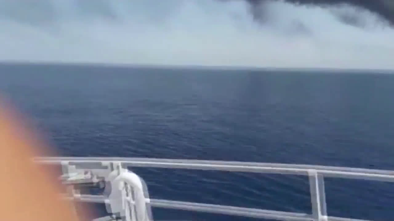 Iran: Oil tanker ablaze at sea following blast in the Gulf of Oman