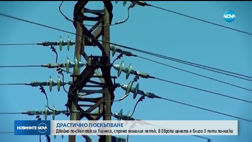 Цената на тока за бизнеса скочи с 203%