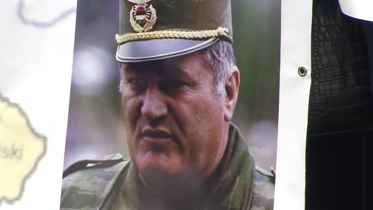 Протести по време на изслушването на присъдата на Радован Караджич