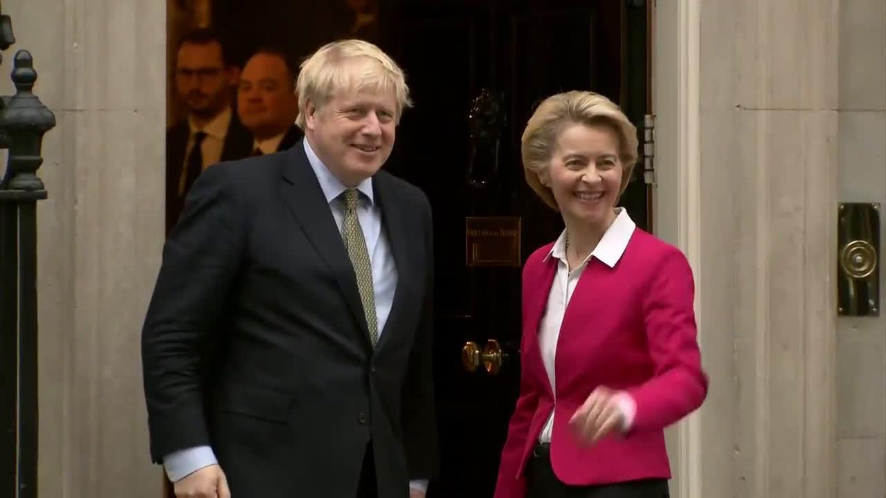 UK: Johnson greets EU chief von der Leyen ahead of Brexit talks