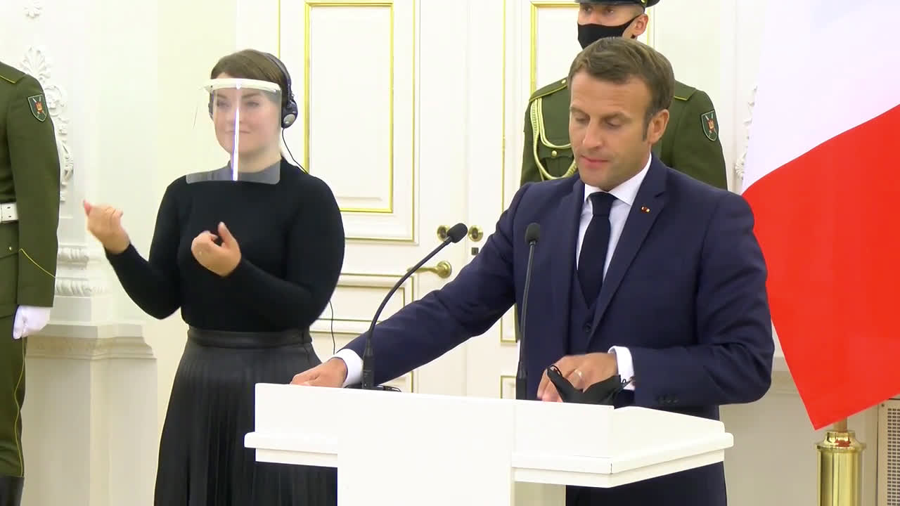Lithuania: Macron to meet with Belarus opposition leader Svetlana Tikhanovskaya