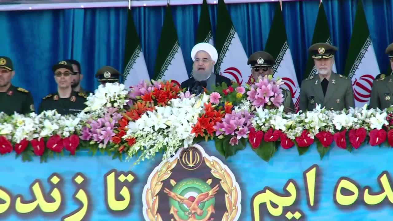 Iran: \'Regional countries can rely\' on Iran\'s military says Rouhani at Army Day parade
