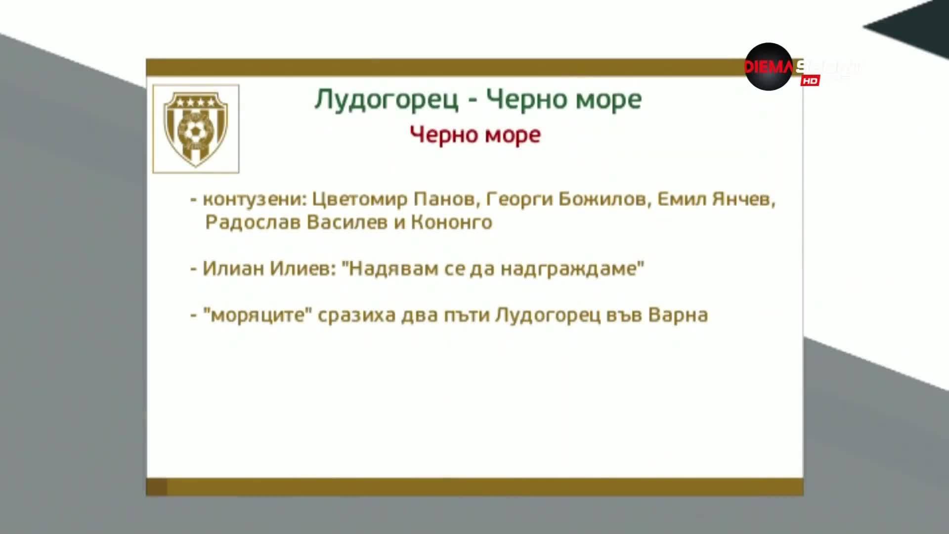 Преди Лудогорец - Черно море