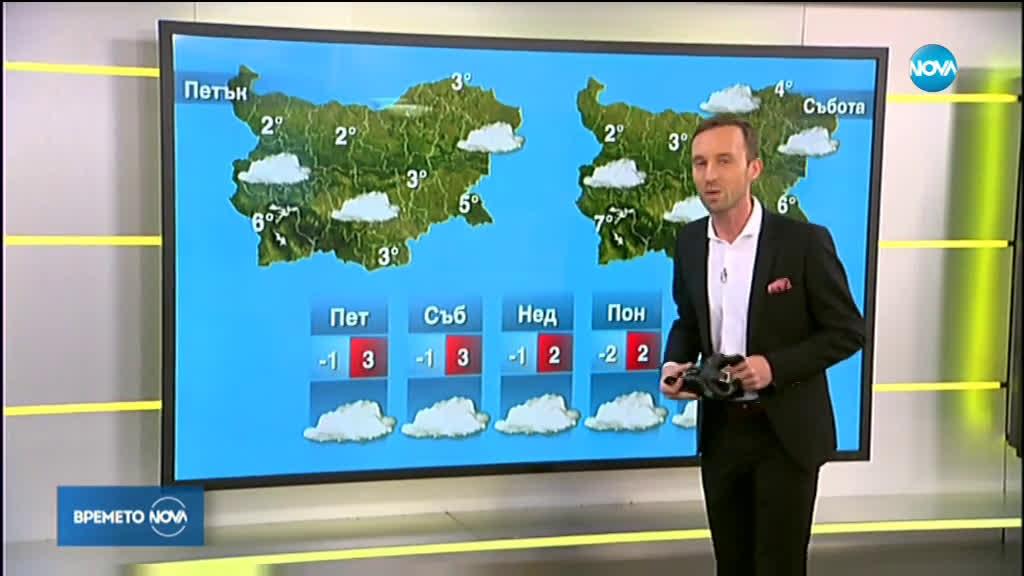 Прогноза за времето (16.01.2020 - сутрешна)