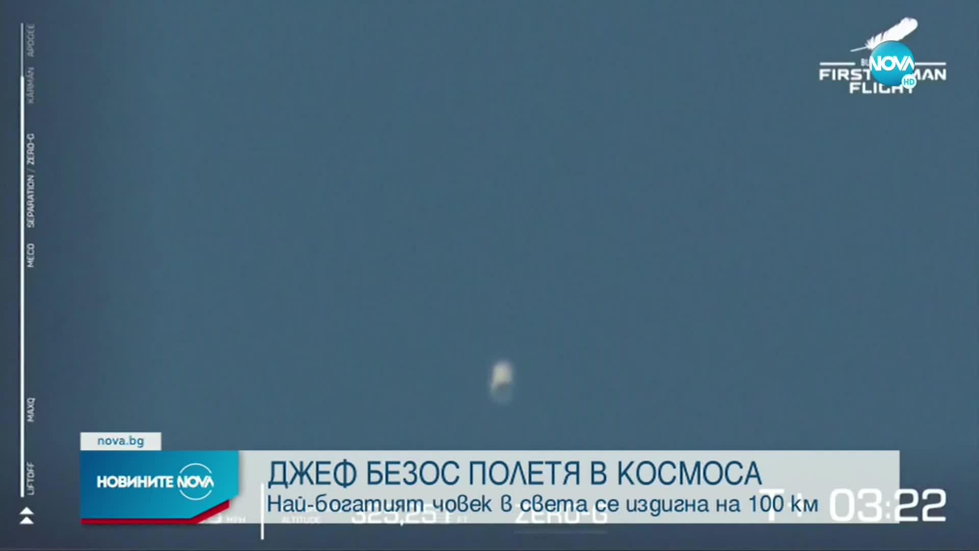 Джеф Безос излетя в Космоса с частна капсула