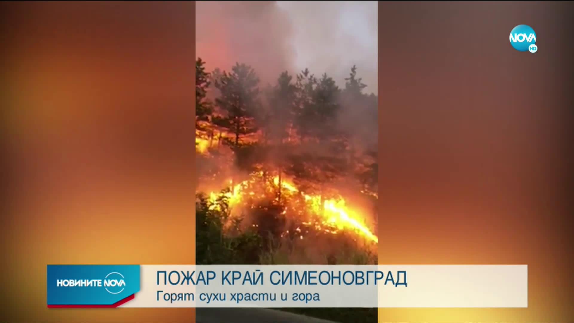 Голям пожар край Свиленград