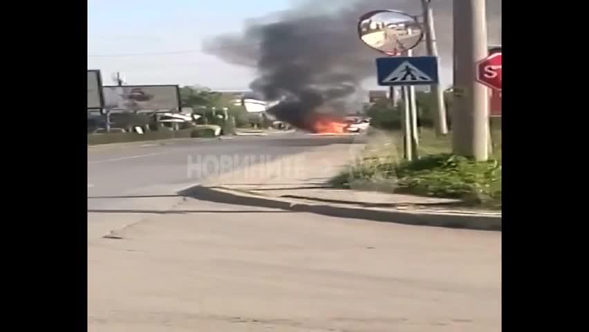 """Автомобил изгоря на бул. """"Симеоновско шосе"""""""