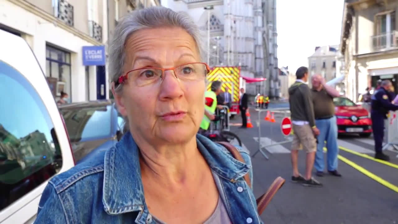 France: Nantes 'stupefied, emotional' after fire at Saint-Pierre-et-Saint-Paul cathedral
