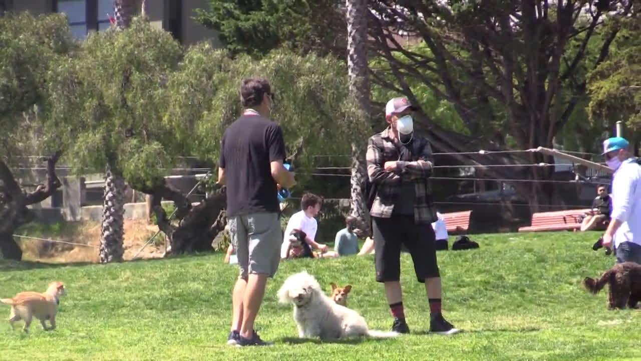 USA: San Franciscans bask in the sun flouting coronavirus lockdown