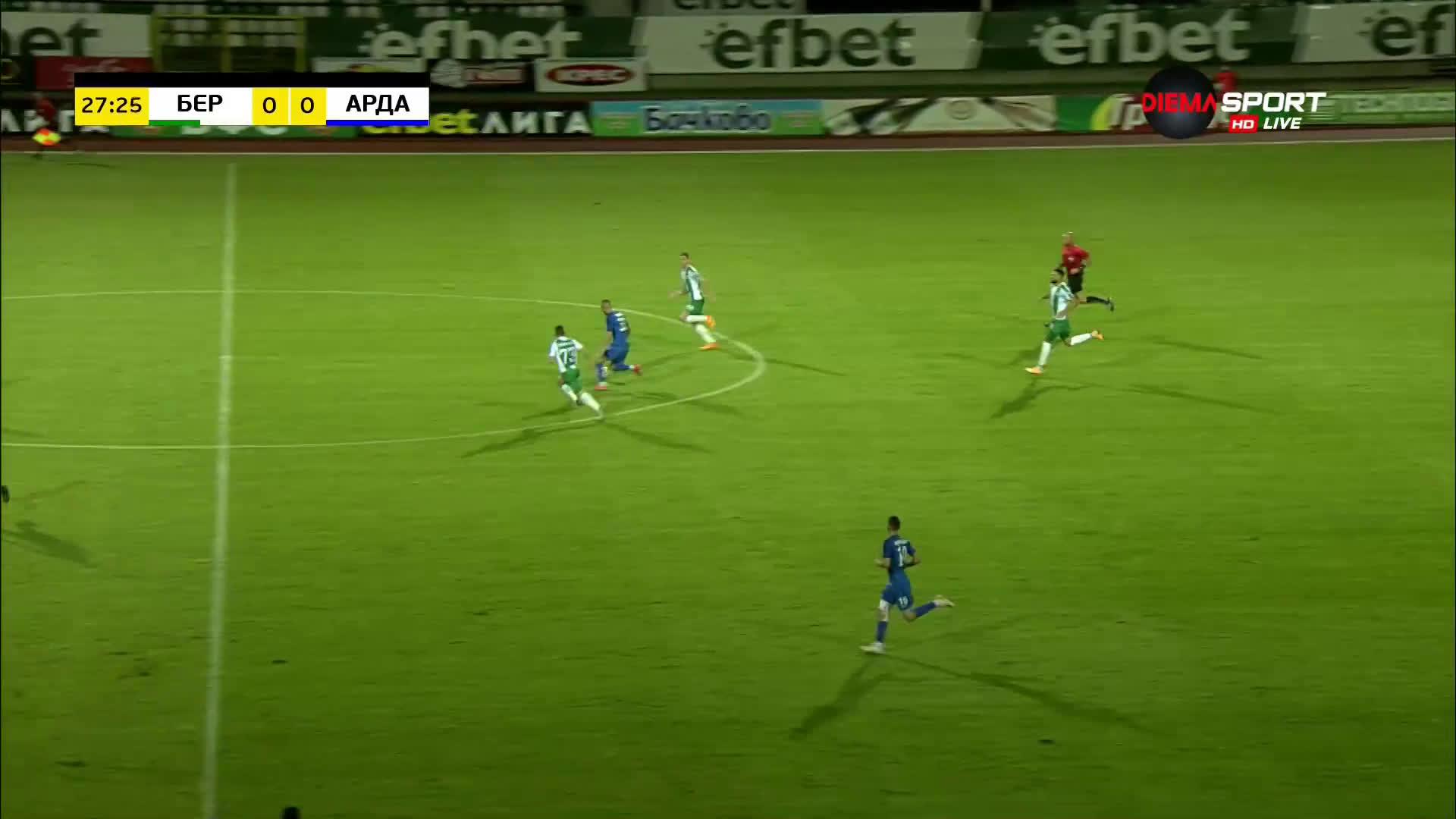 Берое - Арда 0:0 /първо полувреме/
