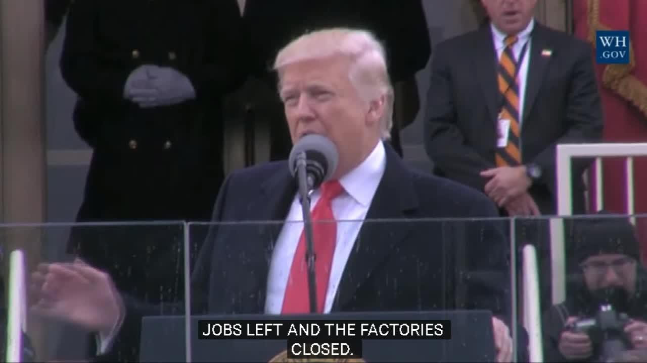 Доналд Тръмп произнесе своята първа реч като държавен глава