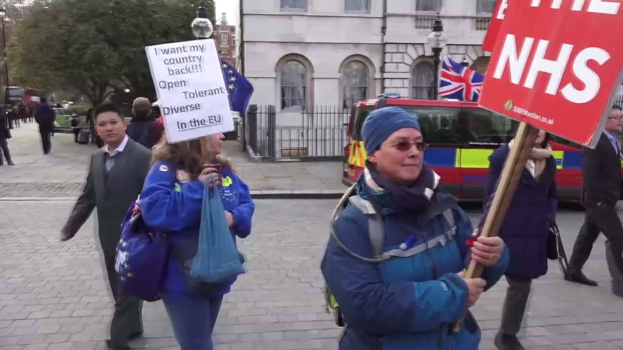 UK: Protesters cannot stomach May's Brexit \'FUDGE\'