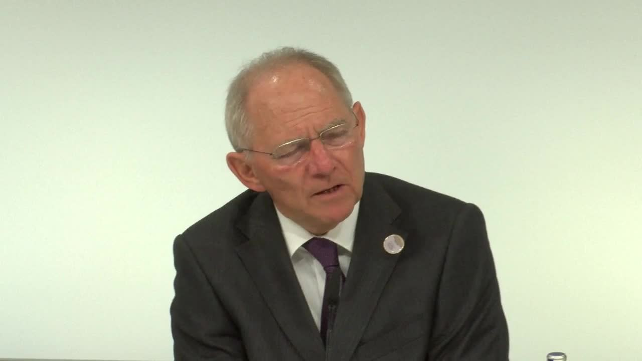 Germany: Schaeuble and Bundesbank pres. talk protectionism at G20 FinMin meeting