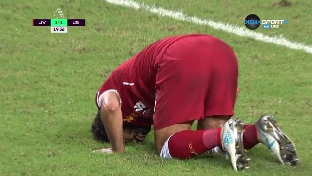 Салах се разписа за Ливърпул срещу Лестър