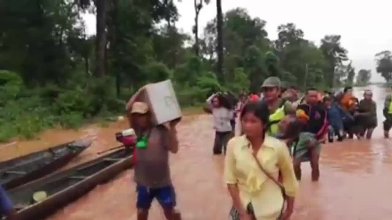 Laos: Evacuations continue as floods devastate Attapeu province
