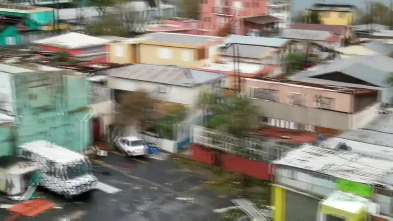 Puerto Rico: Ponce\'s streets strewn with wreckage in aftermath of Hurricane Maria