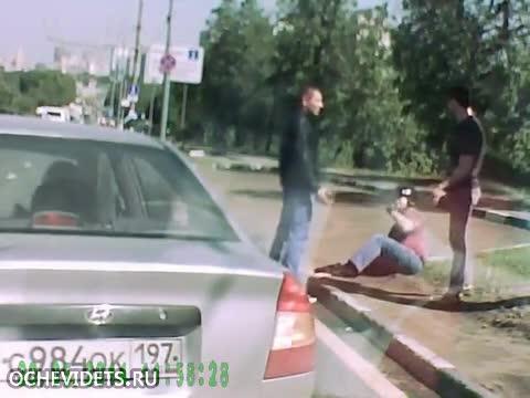 Руски уличен бой с рокери