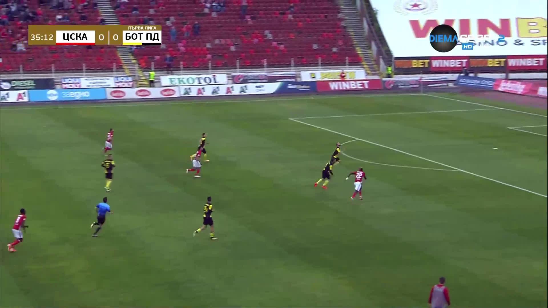 ЦСКА - Ботев Пд 0:0 /първо полувреме/