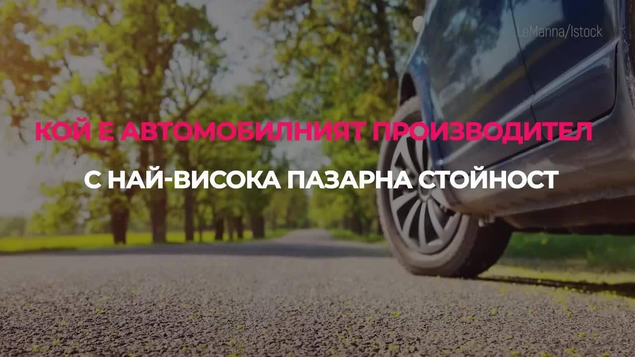 Кой е автомобилният производител с най-висока пазарна стойност