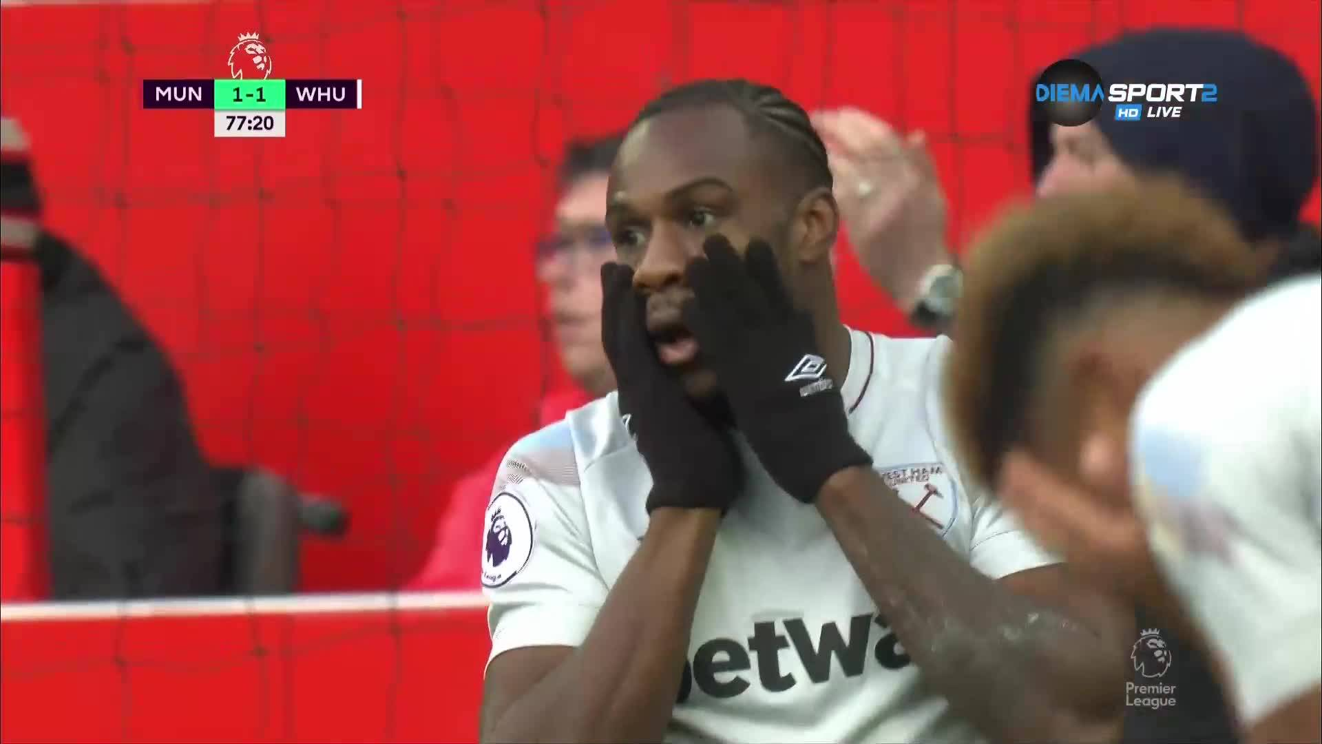 Манчестър Юнайтед - Уест Хем 2:1 /репортаж/