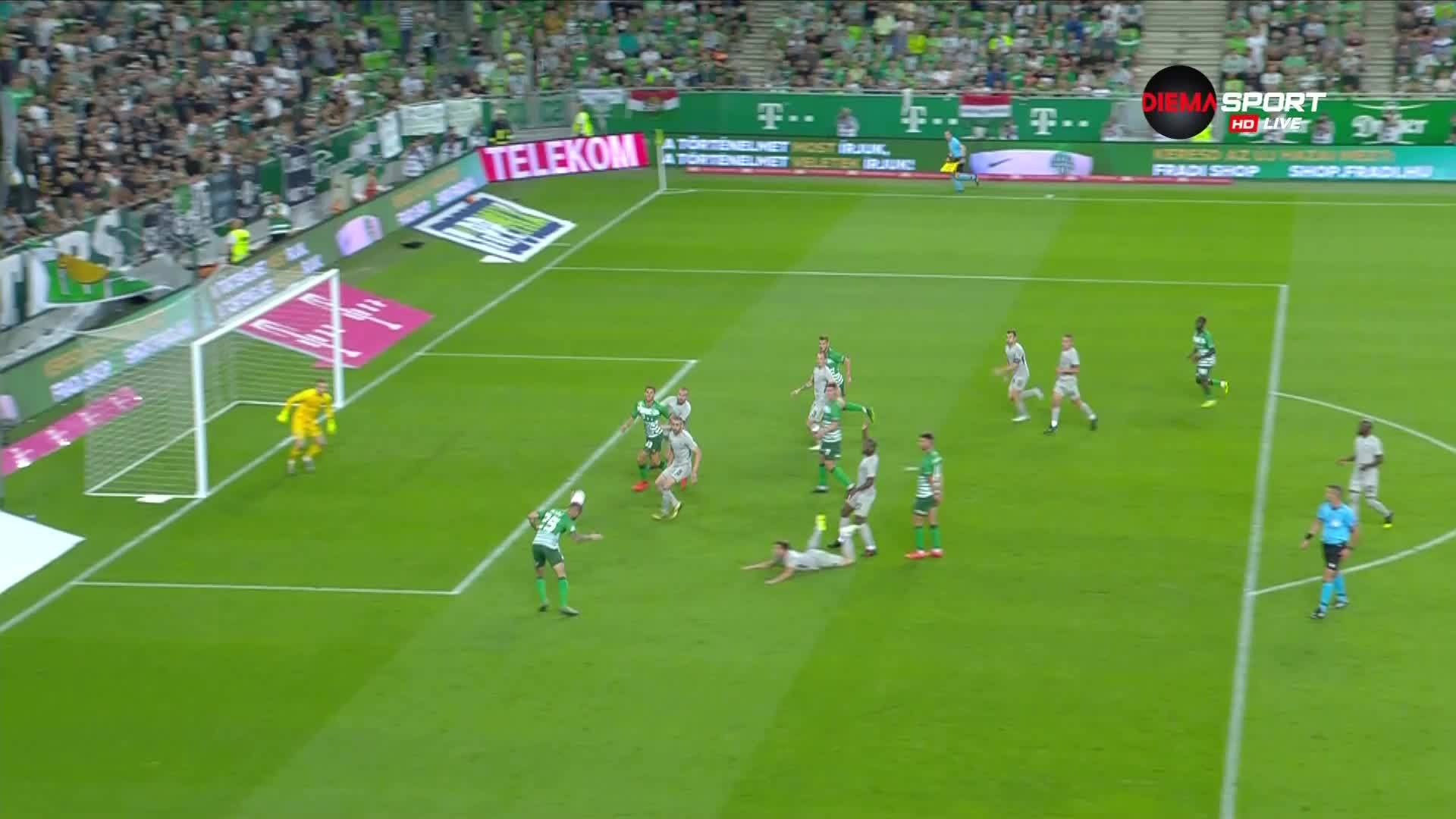 Отмениха гол на Ференцварош срещу Лудогорец