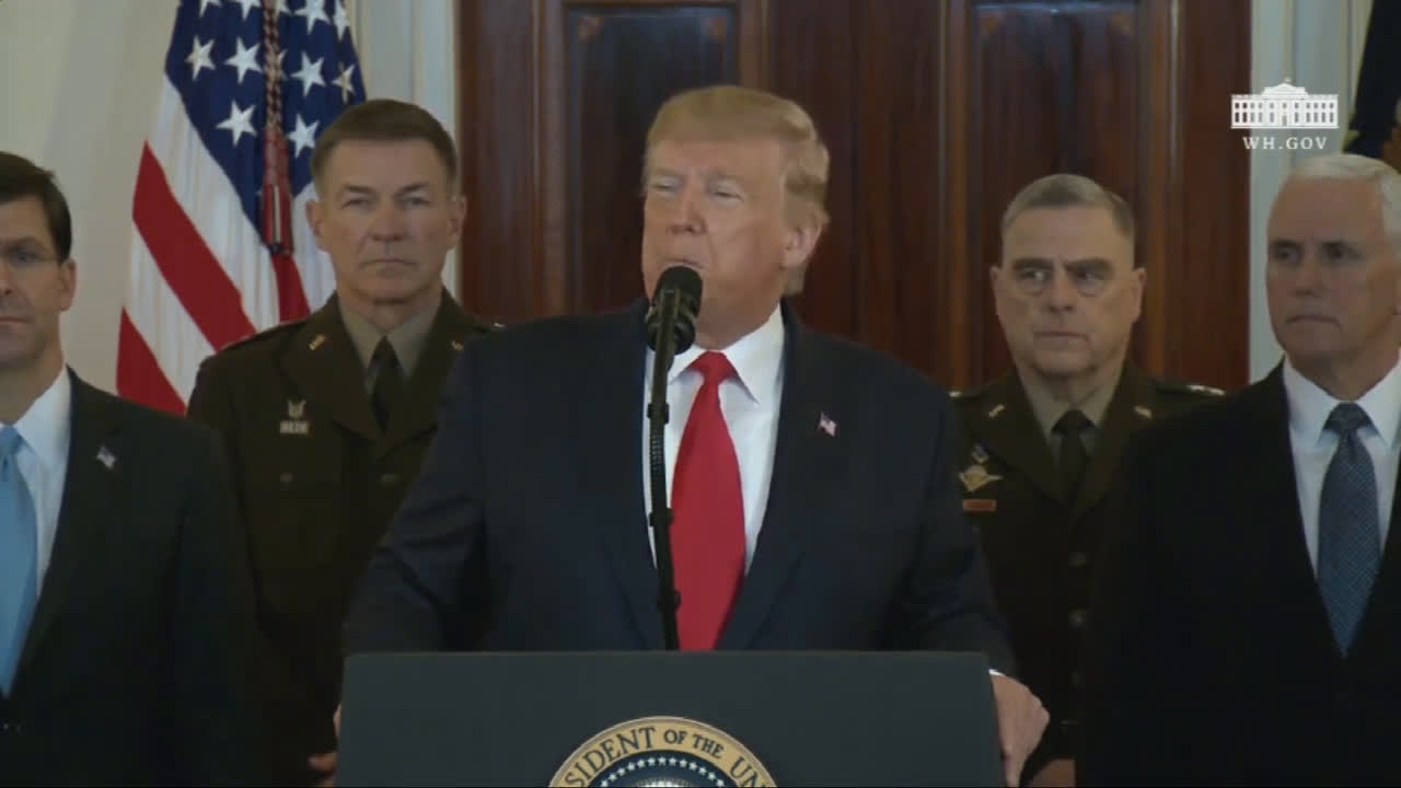 USA: Trump says \'Iran appears to be standing down\' following missile attack