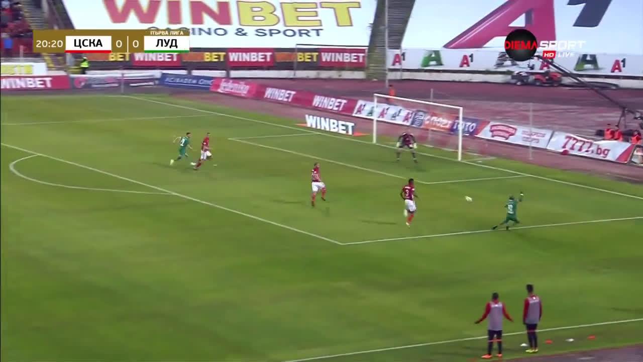 ЦСКА - Лудогорец 0:0 /първо полувреме/
