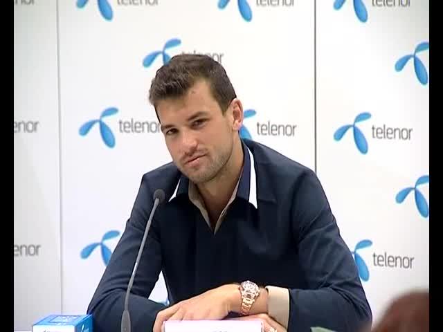 Пресконференцията на Григор Димитров в София