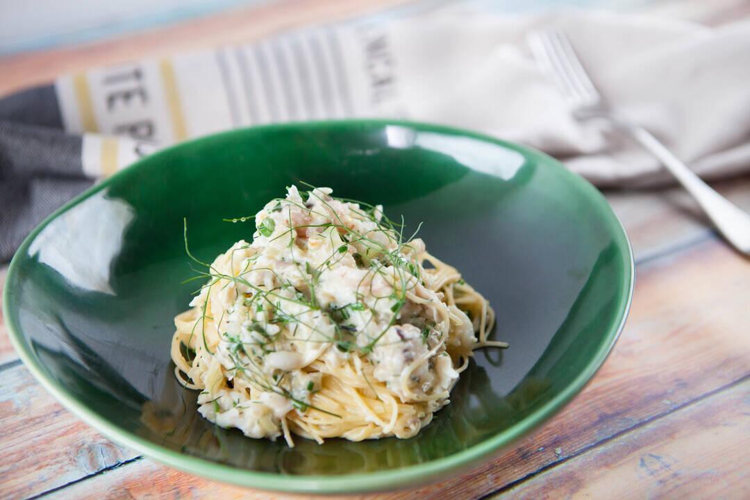 Спагети с рачешко месо и фенел | Джъстин Скофийлд