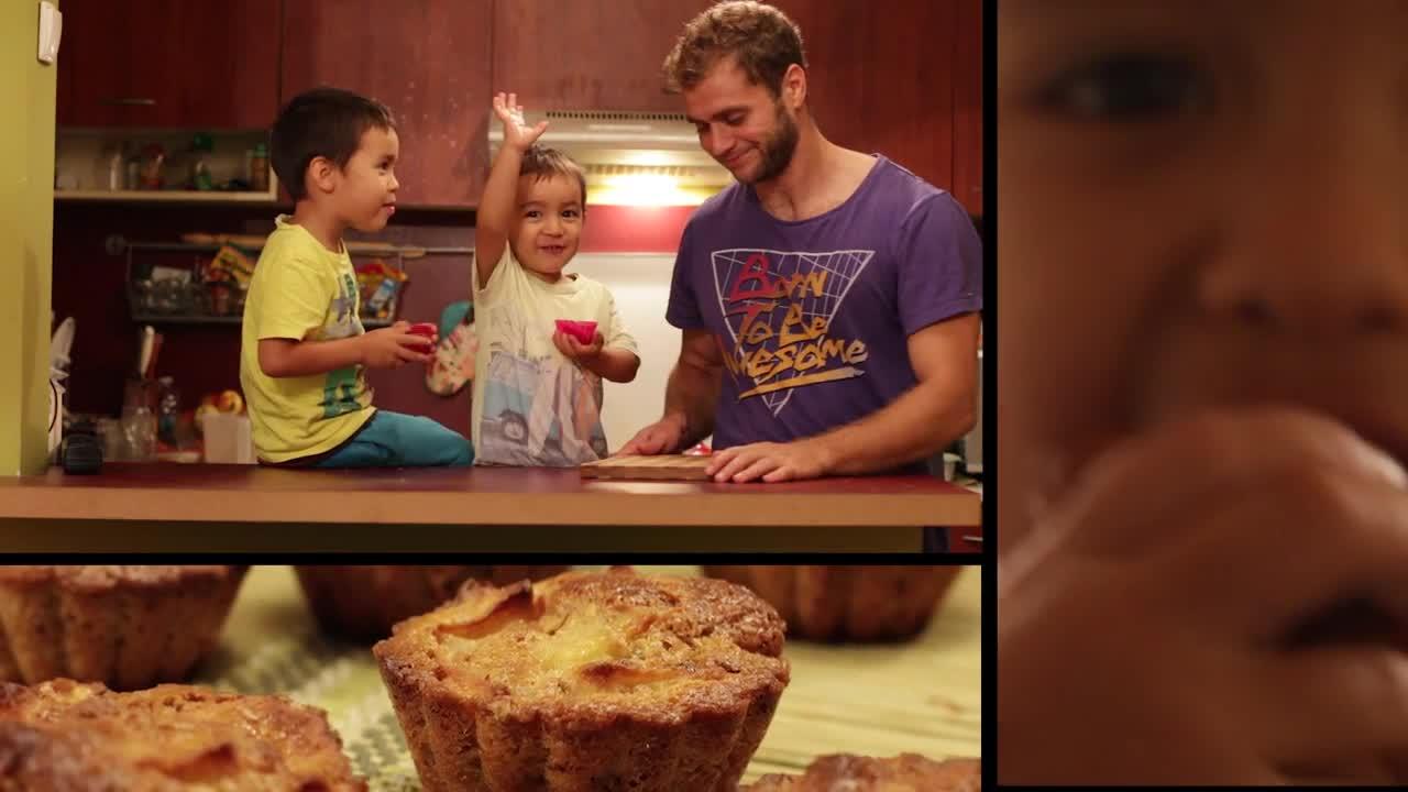 ( Мъфини ) Кексчета с орехи и ябълки